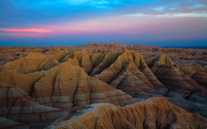 Aerial view of Badlands National Park, South Dakota
